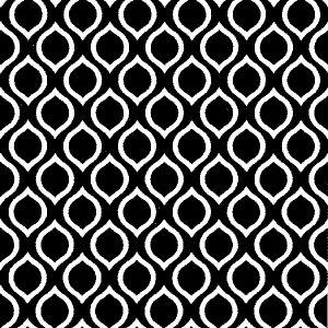 Black & White Jagged Geometric 13924
