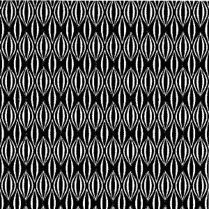 Black & White Jagged Geometric 13925