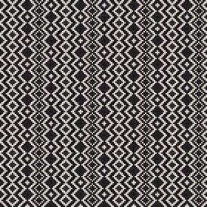 Black & White Woven Textile 13935