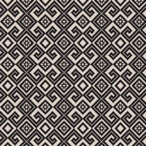 Black & White Woven Textile 13938