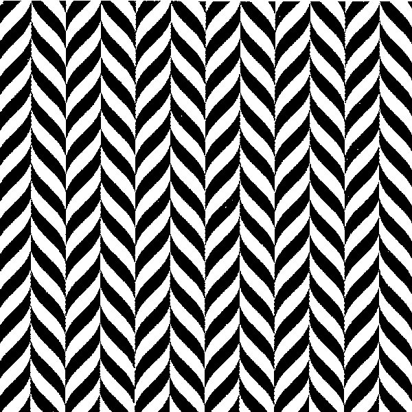 Black & White Jagged Geometric 13922